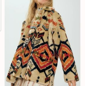 NEW Free People Carmella Faux Fur Coat  Jacket